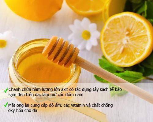 Cách trị nám da mặt nhanh nhất bằng chanh và mật ong