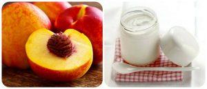 Kem trị tàn nhang nám da mặt từquả đào và sữa chua