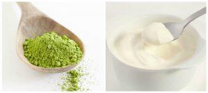 Làm trắng da mặt bằng mặt nạ sữa chua và trà xanh cho làn da nhờn