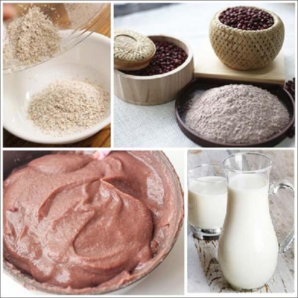 cách làm trắng da từ bột đậu đỏ và sữa tươi không đường1