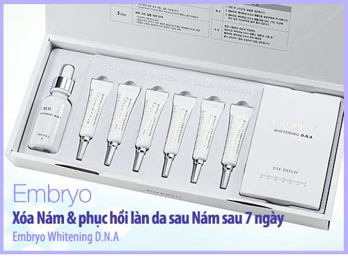 bộ mỹ phẩm trị nám tàn nhang Embryo Hàn Quốc