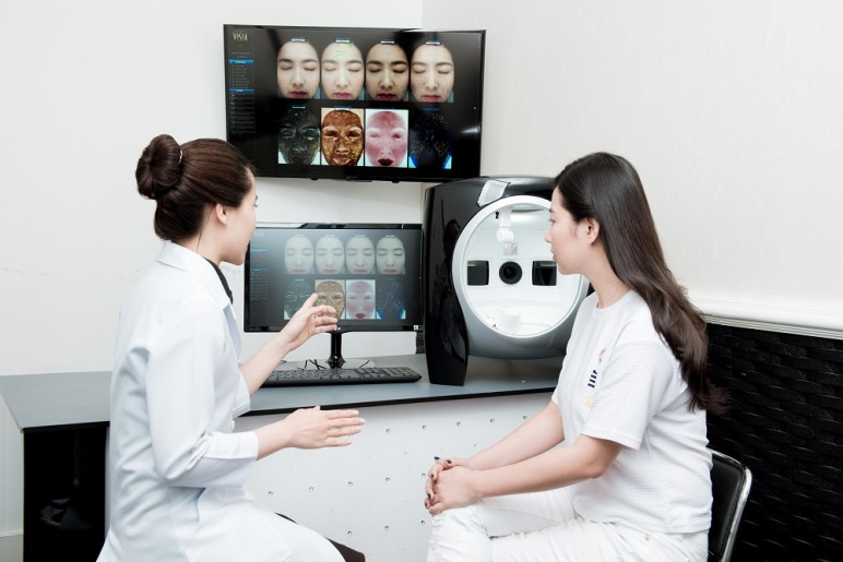cách đọc kết quả soi da bằng máy VISIA