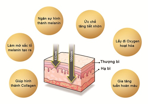 cơ chế trị nám bằng công nghệ laser toning
