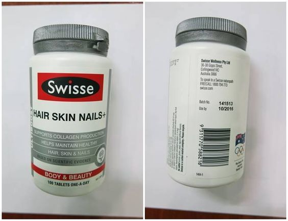 Collagen Swisse Hair Skin Nails dạng viên