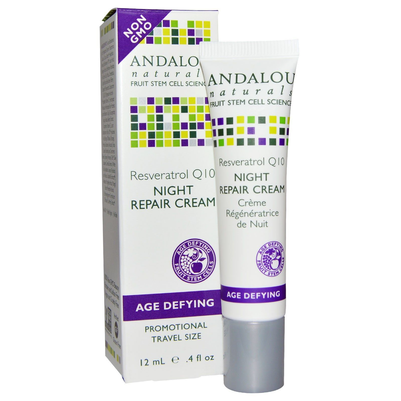 Andalou Naturals, Night Repair Cream, Resveratrol Q10