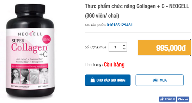 collagen c 360 viên