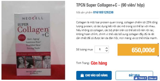 collagen mỹ 90 viên