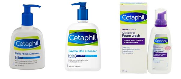 Sữa rửa mặt Cetaphil có mấy loại