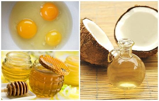 dầu dừa mật ong trứng gà