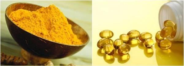 vitamin e và bột nghệ