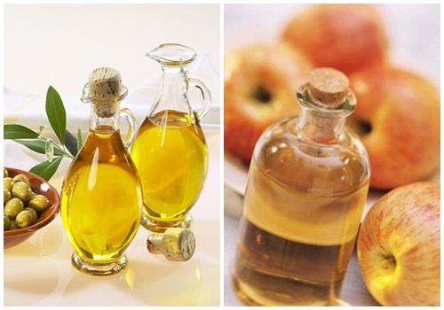dầu oliu và giấm
