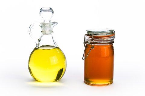dầu oliu và mật ong