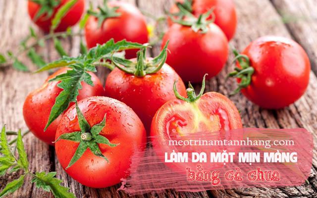 Chăm sóc da mặt mịn màng bằng cà chua